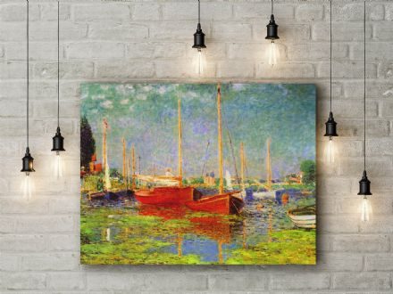 Claude Monet: Argenteuil. Fine Art Canvas.